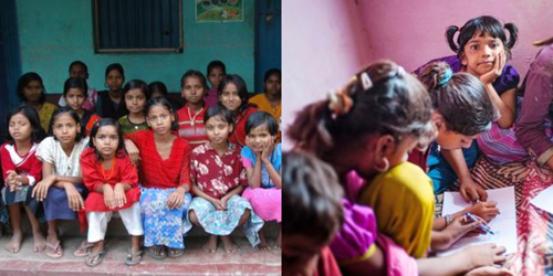 Young girls rescued from the red light districts of India